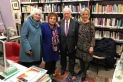 Monique Benveniste, Esther Benbassa, Serge Benveniste et Elisabeth Eliasson